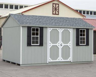 10x16 Side Entry Peak Storage Shed for sale at Pine Creek Structures of Spring Glen, PA
